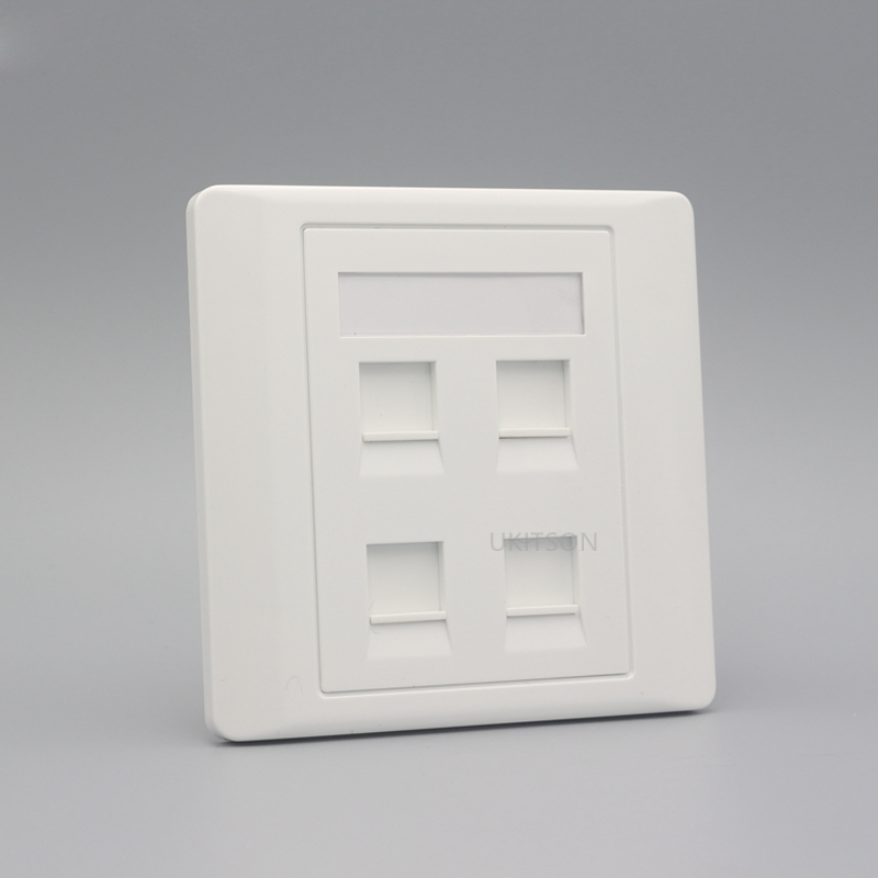 Four Ports Blank Wall Outlet Panel pic 2