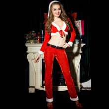8739 New Porn Women Christmas Cosplay Costume Cute Christmas Dress Miss Santa Claus Cosplay Sweet Santa Dress