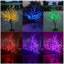 DVOLADOR Holiday light LED Cherry Blossom Tree Light 1.5m 1.8m New Year Wedding Decorative Tree Branches Lamp Outdoor Lighting
