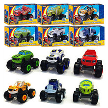 Kid Toy Car Vehicle Car Toys Blaze Monster Machines Kid Toys Transformation Toys With Original  Box Best Gifts For Kids AY883886