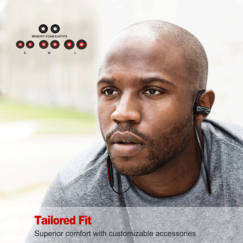 Oneodio Bluetooth Headphone Waterproof In-Ear Earbuds Sport Wireless Metal Stereo Headset 4.1 Bluetooth Earphone With Microphone