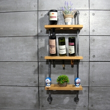 1PC 45*15cm New Classical Wood Red Wine Rack Bottle Holder Wall Mounted Kitchen Bar Creative Display Shelf FJ-ZN1D-019A0