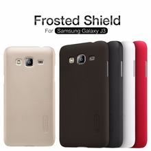 Original Nillkin Super Frosted Shield Hard Back PC Cover Case For Samsung Galaxy J3(2016) Phone Case + Screen Protector