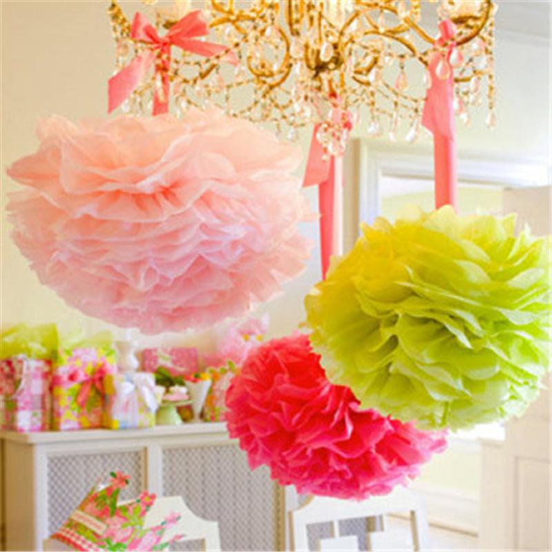 Decorative Hanging Flower Tissue Paper Pom Pom Rose Ball