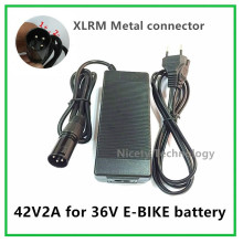 42V2A  electric bike  lithium battery charger  for  36V lithium battery pack XLRM Socket/connector good quality