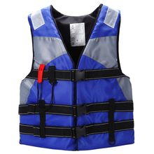 AUTO Adult Sailing Swimming Life Jacket Vest Foam Floating Waterproof oxford With a whistle (blue)(China)