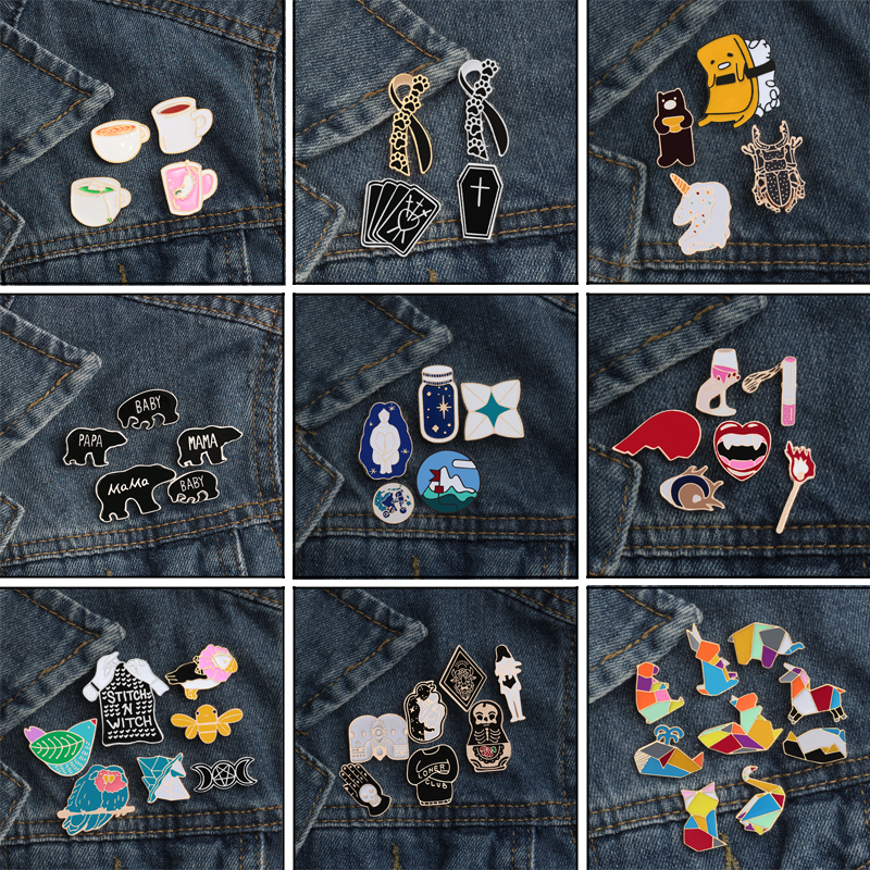 Costume Jewellery Brooches & Pins Latest Collection Of Brooch/ Jacket Pins/ Gift For Kids/ Bambi/ Pegasus/ My Little Pony/ 3 Pcs Set
