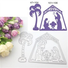 2pcs Holy Solemn Prayer Metal Embossing Cutting Dies Stencils for Scrapbooking/Photo Album DIY Crafts Paper Card Maker