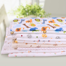 5pcs/lot 30*40cm cartoon baby cotton knitted jersey patchwork fabric DIY Scrapbooking Tissue Needlework Material Curtain Cloth(China)