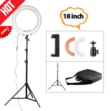 Travor RL-18 18inch big photography ring light with carry bag 240pcs led beads inside 55w ringlight lamp for makeup+light tripod