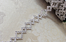 20cm per Piece Clear Crystal Rhinestone Trim For Garment, Wedding Dress Decoration