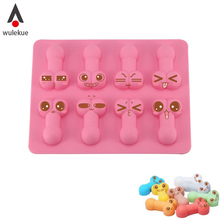 Buy Wulekue Silicone Dick Ice Cube Tools Novelty Gag Gift Penis Funny Sexy Chocolate Tray Cake Mold Mould Tools Party maker