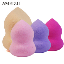 AMEIZII 1 Pcs Foundation Sponge Facial Makeup Sponge Cosmetic Puff Flawless Beauty Gourd Powder Puff Make Up Sponge for face