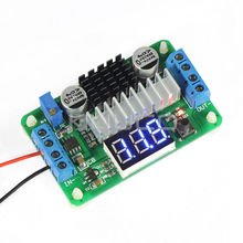 DC DC Converter DC 3.5V~30V 10A 100W Boost Voltage Regulator Adjustable Power Adapter + Blue Led Voltmeter