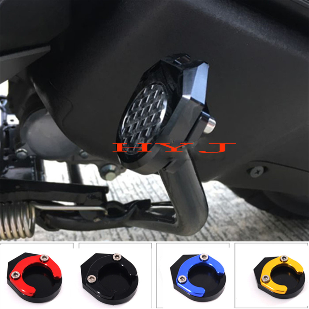 Foot Side stand Extension Kickstand Pad Plate 2015-19 For YAMAHA NMAX155 125 150
