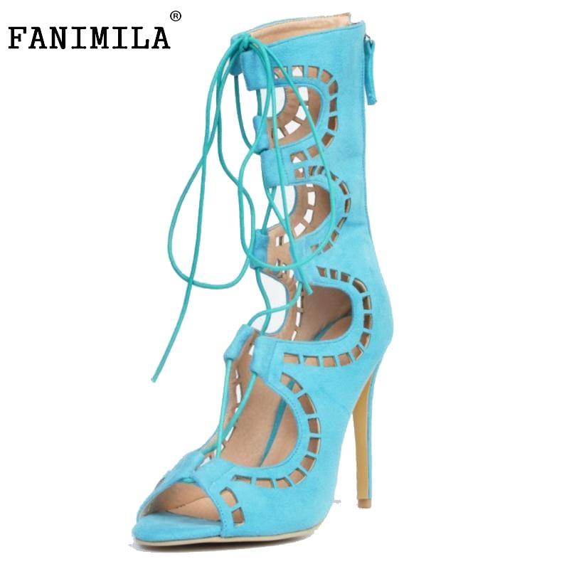 Ladies High Heels Shoes Women Pumps Cross Strap Gladiator Peep Toe Thin Heels Women Shoes Fretwork Catwalk Footwear Size 34-47<br><br>Aliexpress