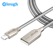 Elough 2.4A All Metal USB Charger Cable For iphone 7 Plus 6s 5 5s 6 6Plus Mobile Phone Apple iPad Mini High Strength USB Charge
