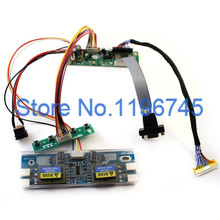 MT561-MD LCD Monitor Driver Board Kit w/ Keypad VGA Cable 4-C Inverter Built-in 23 Programs Support 10-42'' LVDS Screen