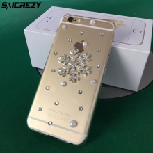 Buy Fashion Transparent Bling Christmas Snowflake Crystal Rhinestone Diamond Case iPhone X 8 7 6 6s Plus 5 5s SE 5c 4 4s Cover for $3.98 in AliExpress store