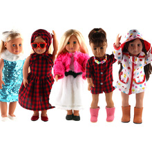 5 mixed styles of clothing for 18 inches of the United States dolls, is the best gift for children! (does not include shoes)