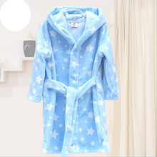 Children's Bathrobes Kids Hooded Robe Baby Beach Bath Robe Kids Sleepwear Boy Girls Cartoon Bathrobe Teenager Flannel Bathrobes(China)