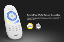 FUT091 2.4GHz Dual white Full Touch 4-zone Remote Controller Wireless RF for 5050 3528 warm white/white led strip downlight bulb