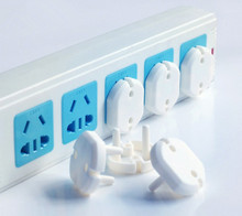 10pcs/lot  EU Children Electrical Safety Protector Child Guard Against Electric Shock Socket Cover Cap Kids  Safety Product