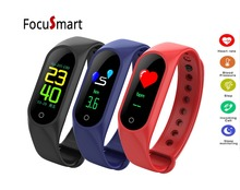 Buy FocuSmart New Color Screen M3 Smart bracelet band heart rate monitor Blood pressure Fitness Tracker Smart Wristband PK mi band 3 for $15.60 in AliExpress store