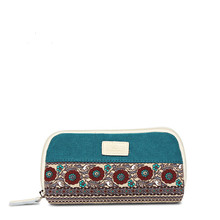 New Arrival National Style Floral Cell Phone Pocket Coin Purse Fashion Coin Wallet Case With Zipper Casual Storage Bag(China)