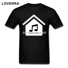 100%Cotton Jersey House Music Radio White Black Font No Out Line T-Shirt Men O-Neck Hip Hop Brand Clothing Fitness Male TShirt