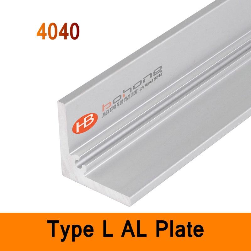4040 Type L Aluminium Profile Long Angle Plate EN CE ISO DIY Brackets AL 3D DIY Printer Frame Metal Connector Sheet Workbench<br>