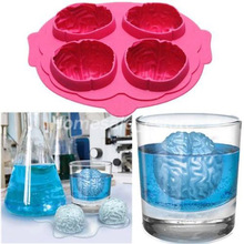 New Fashion Brain Ice 3D Mold Silicone Mold Cake Tools Cutter Ice Molds Cream Mould Cooking Tools Tools