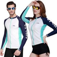 SBART 2016 upf 50 Swim Rash Guard Men Long Sleeve Swim Shirts Anti UV Rashguard Tops Zipper Plus Size Men Rashguard Jacket(China)