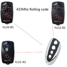 high quality copy Nice flors rolling code remote control 433 replacement with battery