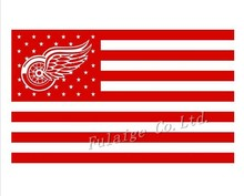 Detroit Red Wings Nation Flag 3ft x 5ft Polyester NHL Detroit Red Wings Banner Size No.4 150*90cm Custom flag