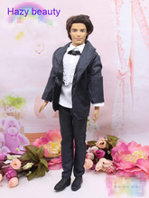 Hazy beauty Handsome New Perfect Wedding Suits set Accessories Top+trousers Clothes For Barbie boyfriend Kem Doll BBI00322(China)