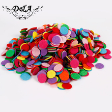 1000pcs Mixed Colors 3-5CM Circle Felt Pads Round Felt Accessory Patches, Fabric Flower Accessories Material(China)