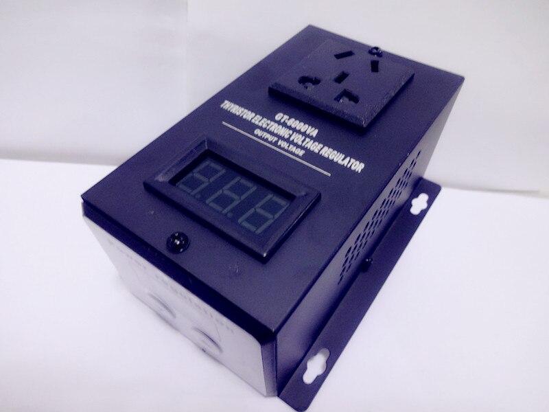 6000W High Precision Adjustable Thyristor Electronic Voltage Regulator, Single Phase 220V 50Hz, Rated Power 6000W<br>