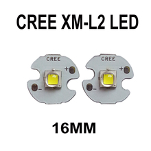 2 PCS Cree XLamp XM-L2 U3 10W High Power LED Emitter Bulb with 12mm 14mm 16mm 20mm Heatsink base LED Emitter Flashlight Modding(China)