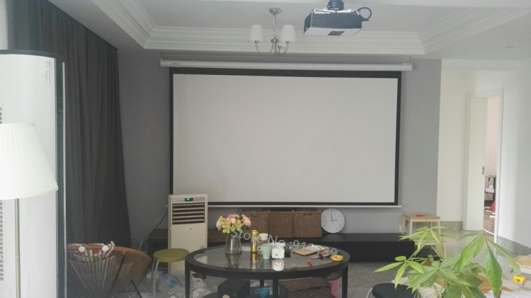 150inch Electric projection screen pic 16