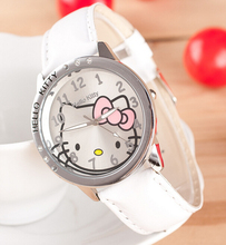 Holiday Sale New Arrival Cheap Lovely Girls Hello Kitty Women Watch Children Fashion Kids Crystal Wrist Watch For Gift