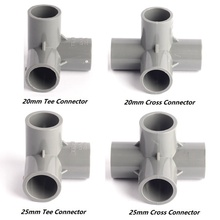 4 Type Inner 20/25mm 90 Angel Equal Tee/Cross PVC Connectors Durable Garden Water Pipe/Hose Fittings Irrigation Tube Tool Joint