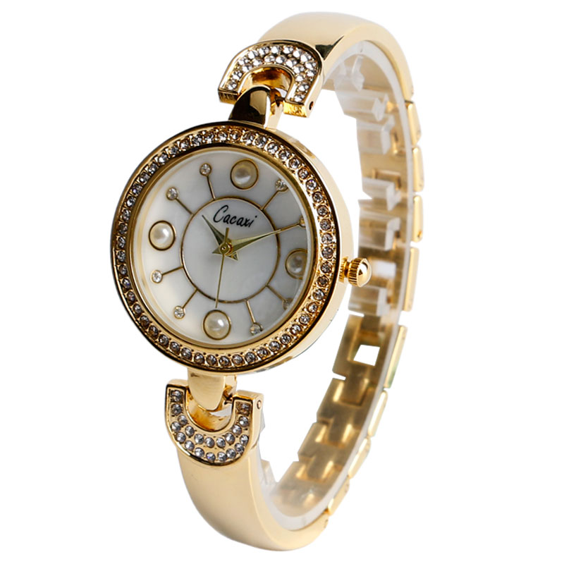 Casual Rhinestone Artificial Pearl Alloy Band Strap Wrist Watch Bracelet Exquisite Ladies Women Bling Gift Stylish Reloj mujer<br><br>Aliexpress