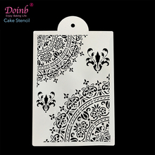 Hot DIY Flower Pattern Plastic Cake Stencil Mold Lace Pad Spray Flower for Wall Painting Cupcake Decoration Baking Tool Moulds