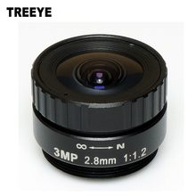 "HD 3MP 2.8mm CCTV lens CS IR metal for HD Security Cameras,1/2.5"" format, F1.2 aperture(China)"