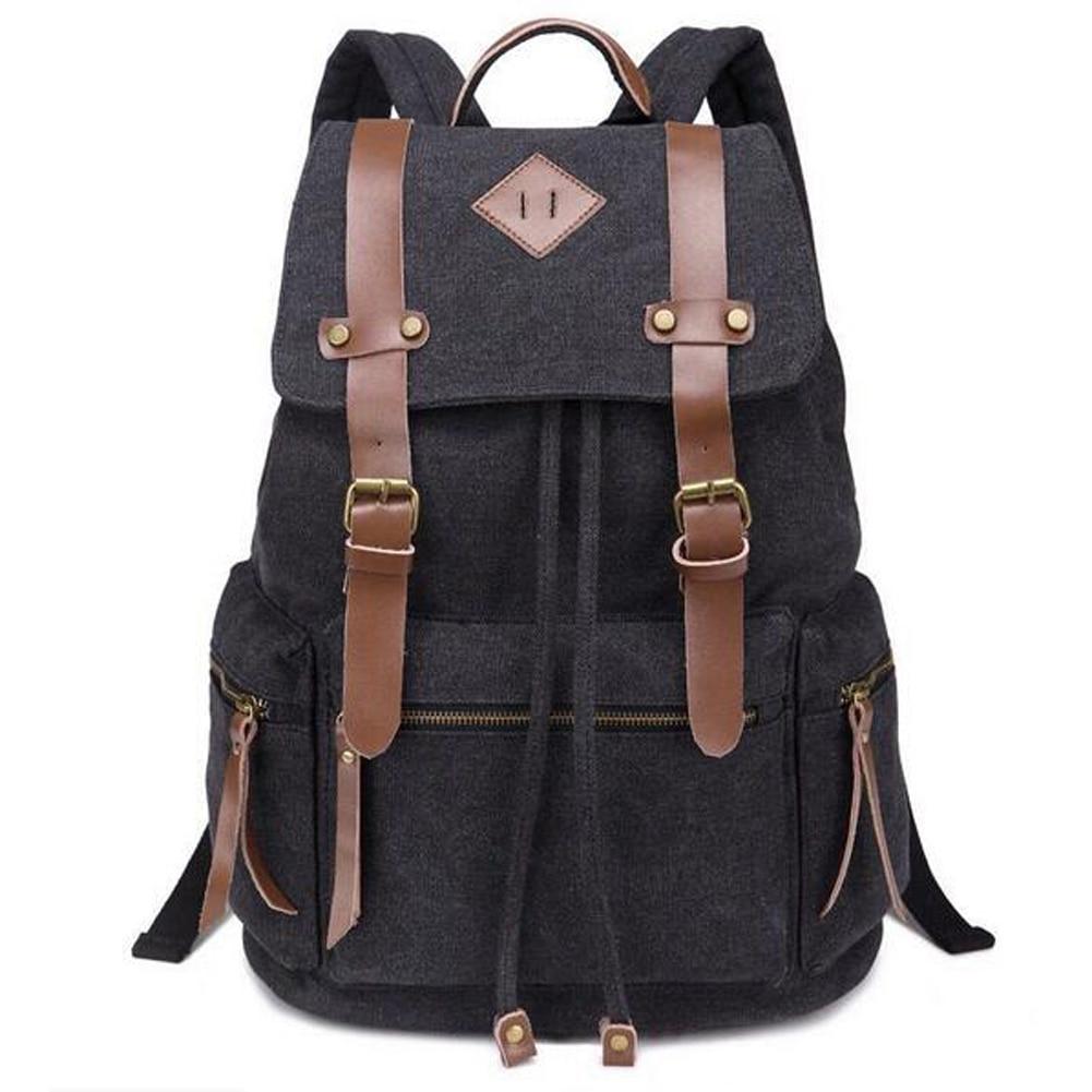 5 Colors Men Women Canvas Backpack Rucksack Unisex Travel Camping School Satchel Sports Bag FE5#<br><br>Aliexpress