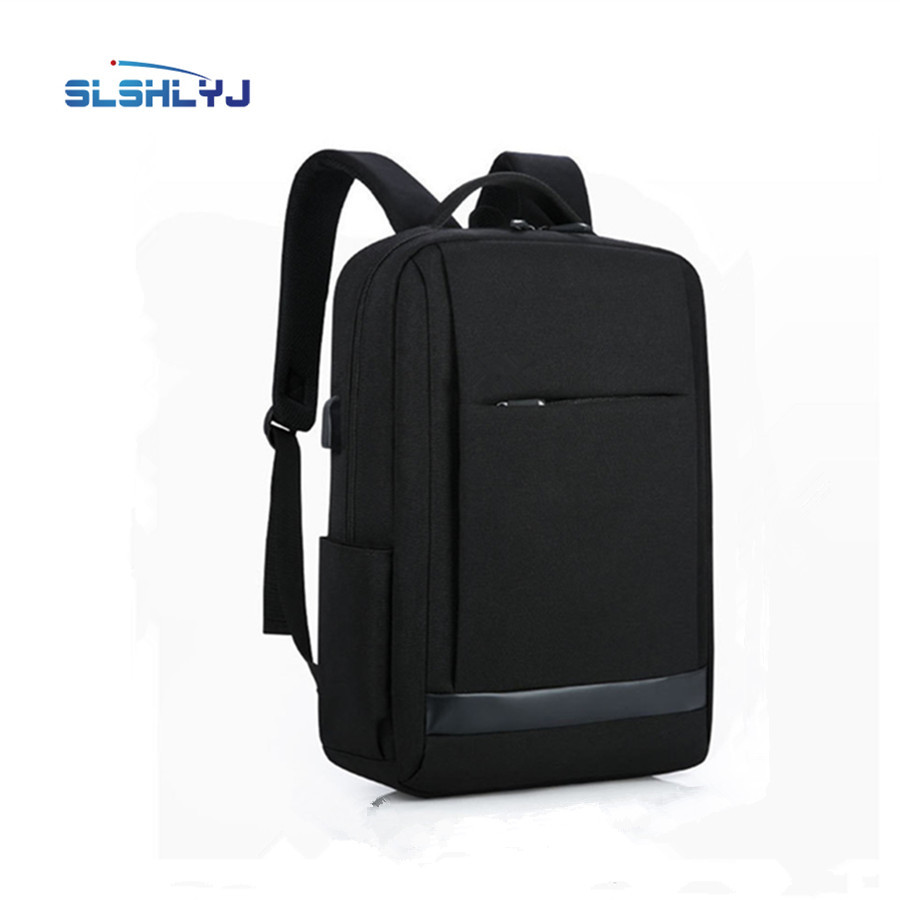 Men shoulder bag female middle and high school students leisure travel backpack business computer package usb smart charge<br>