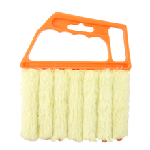 ALIM Microfibre Venetian Blind Brush Window Air Conditioner Duster Dirt Clean Cleaner (Orange)(China)