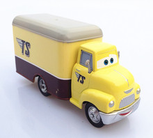 Disney Pixar Cars Dustin Mellows TS Delivery Truck Metal Diecast Toy Car Toy Car 1:55 Alloy Truck Container Model Toy gift