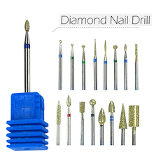 "1pcs Diamond 3/32"" Shank Nail Art Electric Drill Bit Rotate Burr Cuticle Clean Tools for Manicure Pedicure Nails Tools JIjg01-17"
